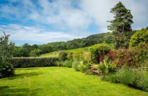 Superb garden views toward the Golden Cap