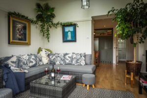 Relaxed seating in the garden sitting room