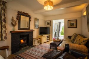 The living room with log-burner, perfect for colder weather